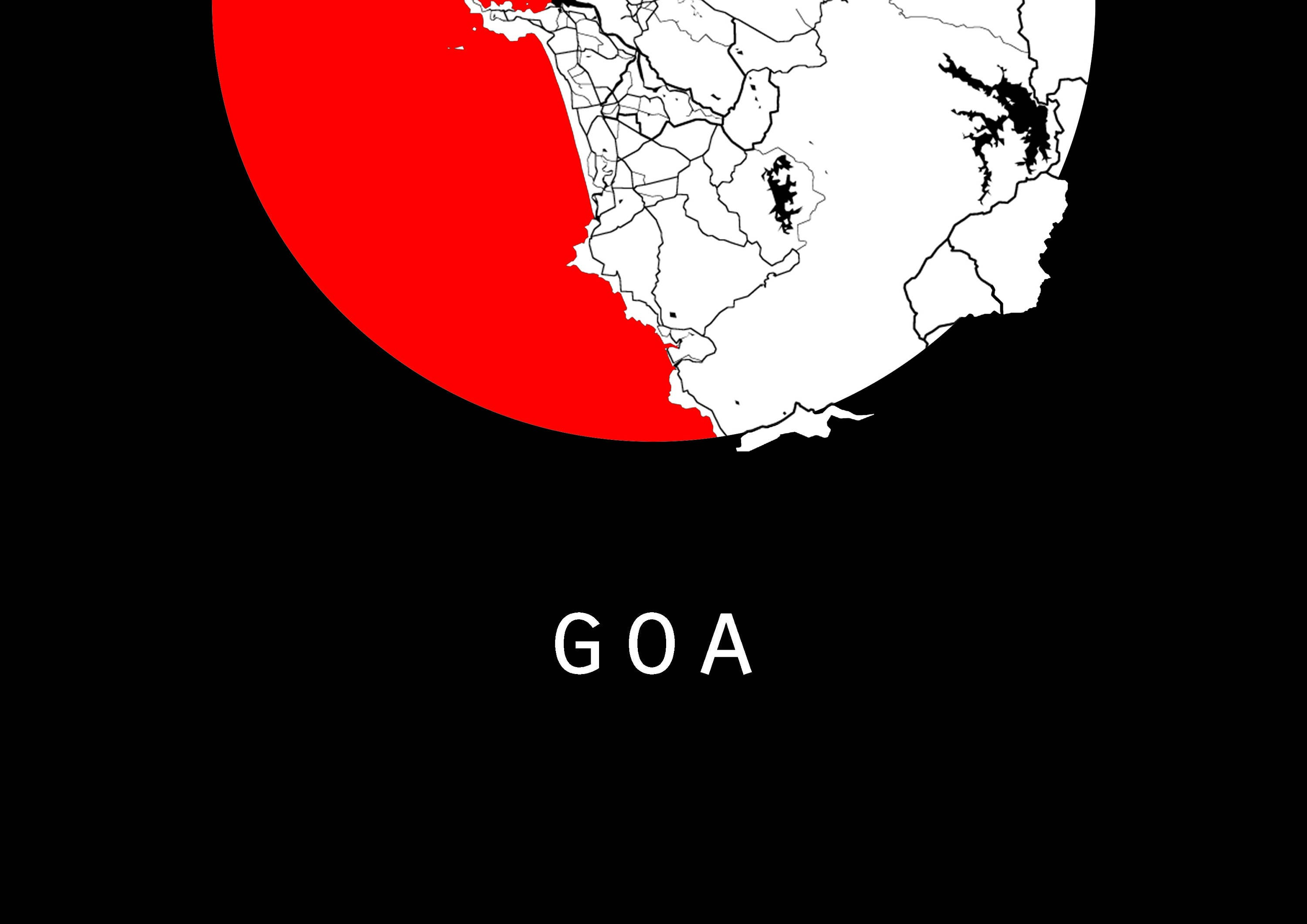 Goa map world map india map maps black and white map etsy zoom gumiabroncs Image collections