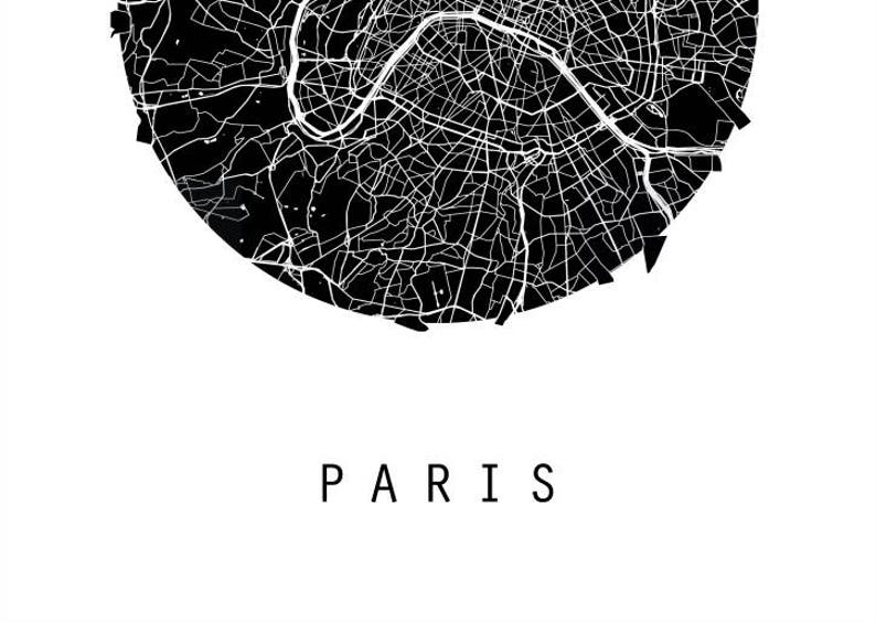 Paris Map Italy Map Europe Map Black And White Map Etsy