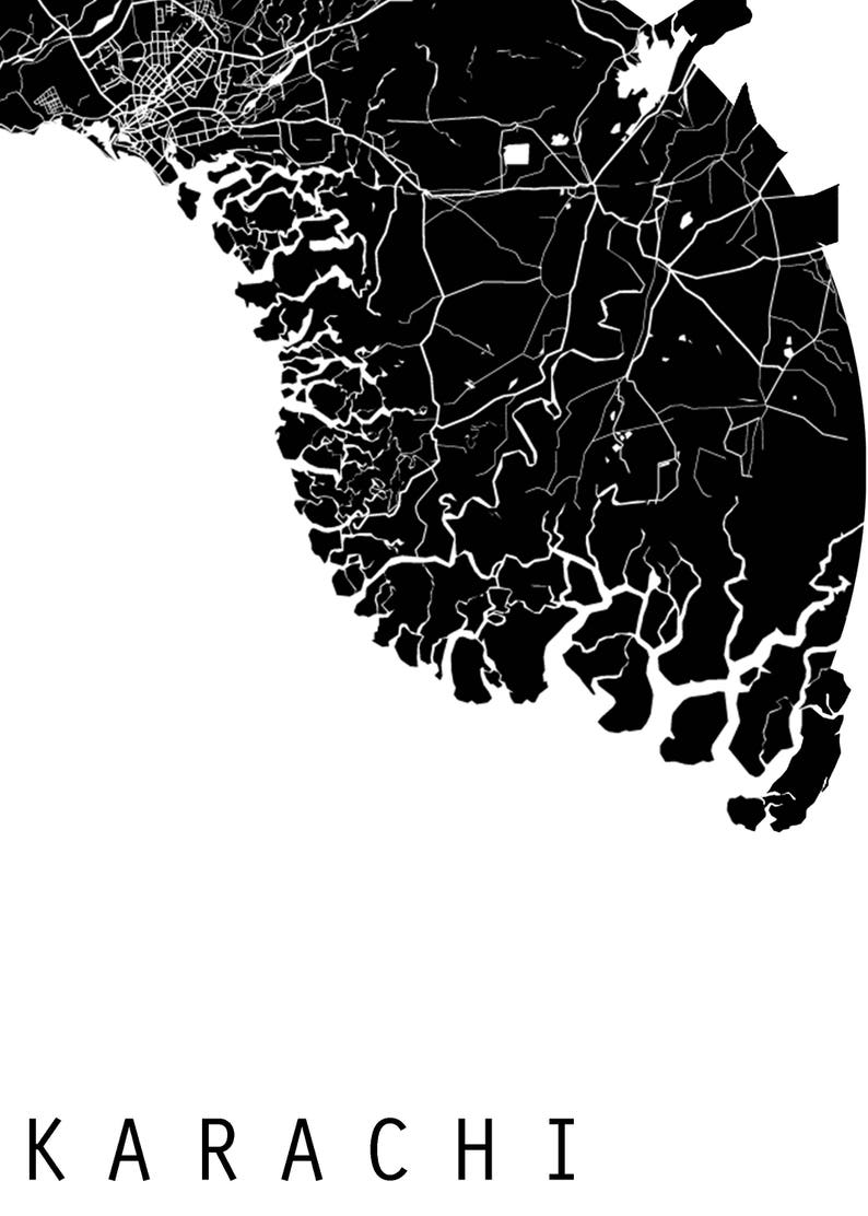 Map Of Asia Black And White.Karachi Map World Map Asia Map Pakistan Map Black And Etsy