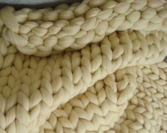 chunky tricot jet couverture de laine paisse couverture. Black Bedroom Furniture Sets. Home Design Ideas