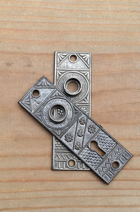 image 0 - Antique Eastlake Iron Door Plate Set / Vintage Eastlake Door Etsy