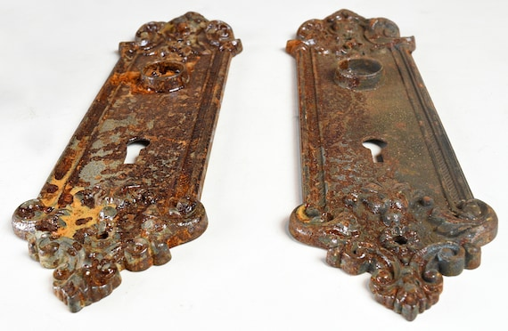 Charmant Sargent And Co. Cast Iron Victorian Door Plate Set / Vintage   Etsy