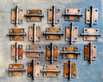 "Japanned finish 1.5"" x 2"" cabinet hinges - quantity available"