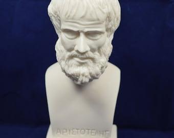 Aristotle sculpture Aristoteles ancient Greek philosopher alabaster statue