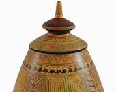 Minoan Pottery Pyxis - Geometric Period Design - Jewellery Box - Ancient Crete