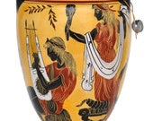 Goddess Aphrodite - Apollo - Poseidon Oinochoe Amphora Vase pottery Mythology