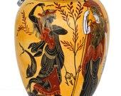 Goddess Athena and Poseidon - Dionysus God of Wine Oinochoe Amphora Vase pottery