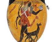 Goddess Athena and Dionysus - Artemis Diana Goddess of Animals Amphora Vase