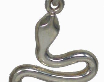 Minoan Snake Silver Pendant - Ancient Greece - Crete - Healing Symbol - Asklepios