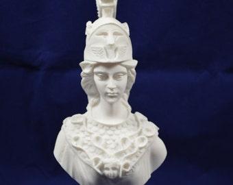 Athena Pallas sculpture bust Minerva ancient Greek Goddess