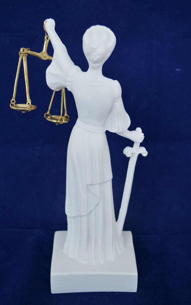 Themis sculpture Goddess of Justice Themida artifact Alabaster statue