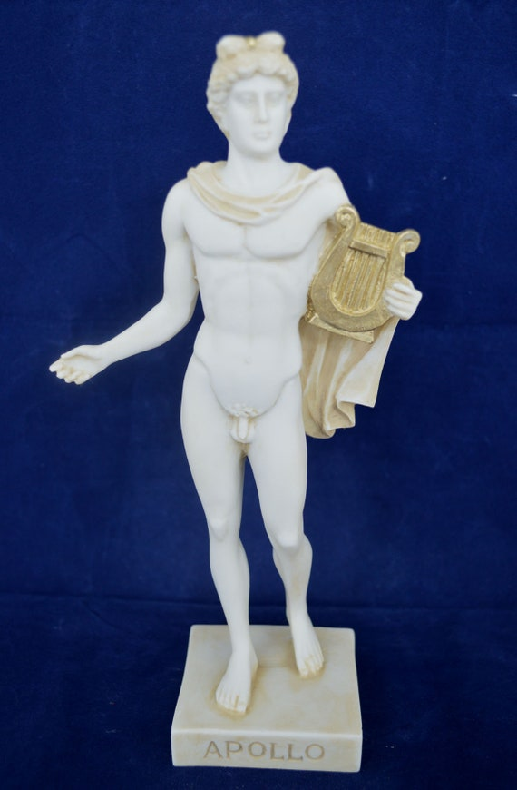 Apollo Statue Ancient Greek God Of Sun And Poetry Sculpture Etsy