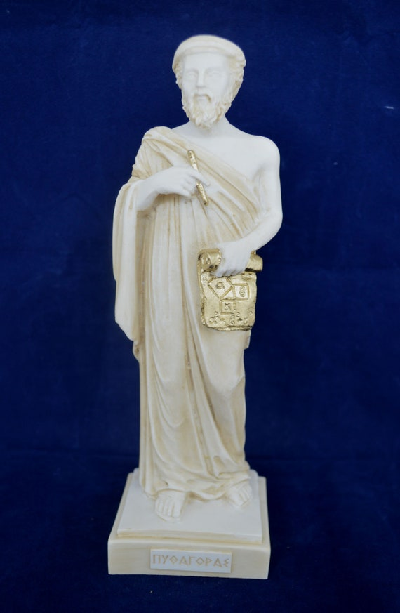 Great Scientist and Mathematician of the Ancient World Archimedes Statue