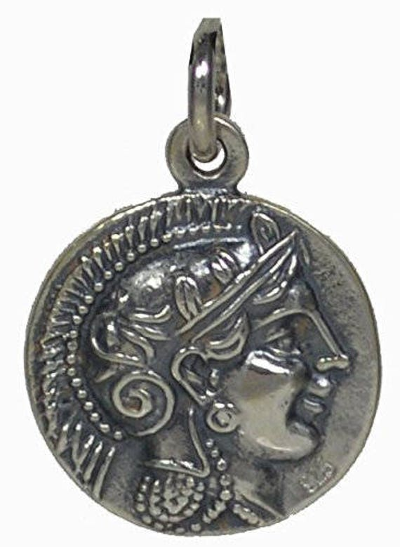 Athens Tetradrachm - Goddess Athena & Owl of Wisdom Small Silver 925 Pendant-Quality