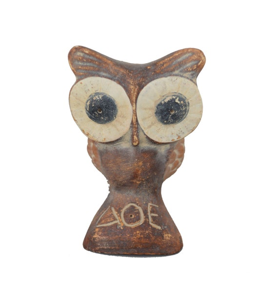 Owl Sculpture Small Reproduction Ancient Artifact - Symbol of Wisdom and Goddess Athena