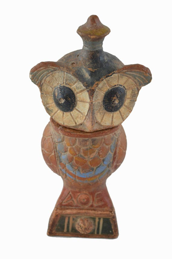 Owl ancient Greek symbol of wisdom sculpture