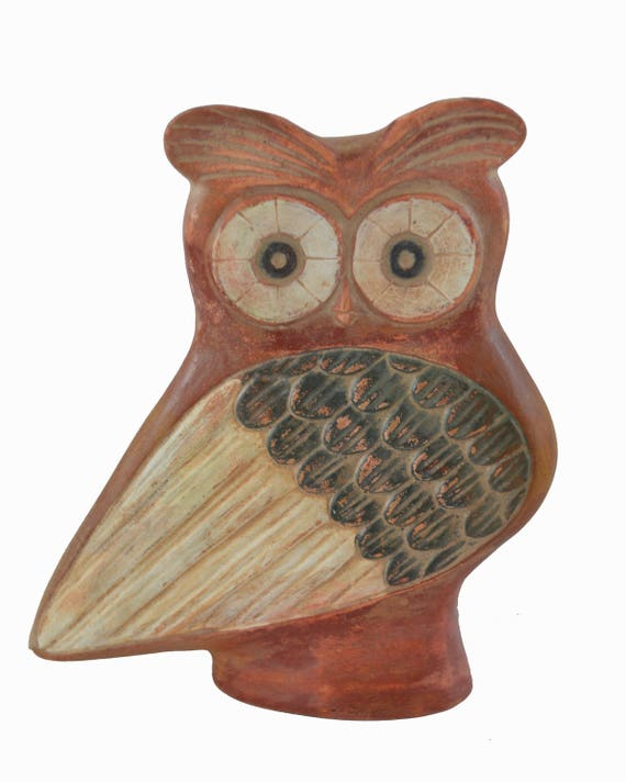 Owl sculpture ancient Greek symbol of wisdom artifact