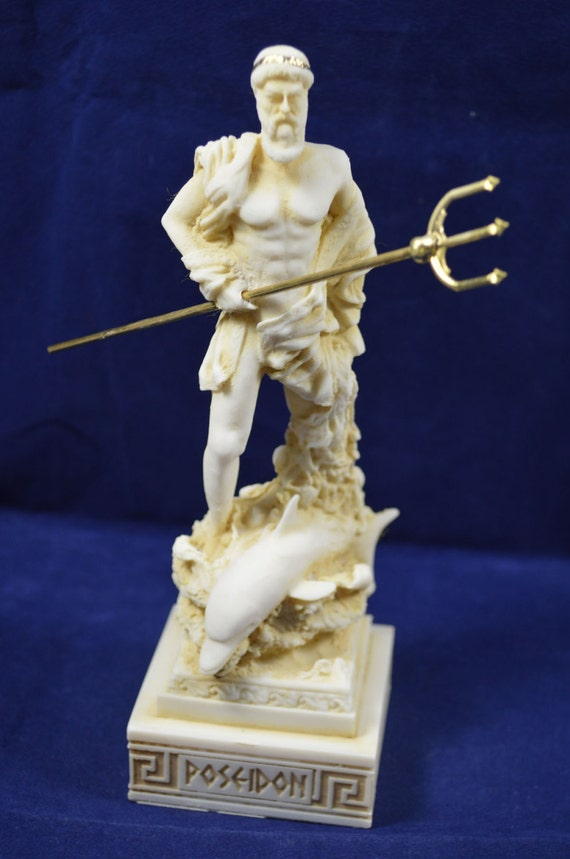 Poseidon Sculpture Statue Ancient Greek God Of The Sea Neptune Aged