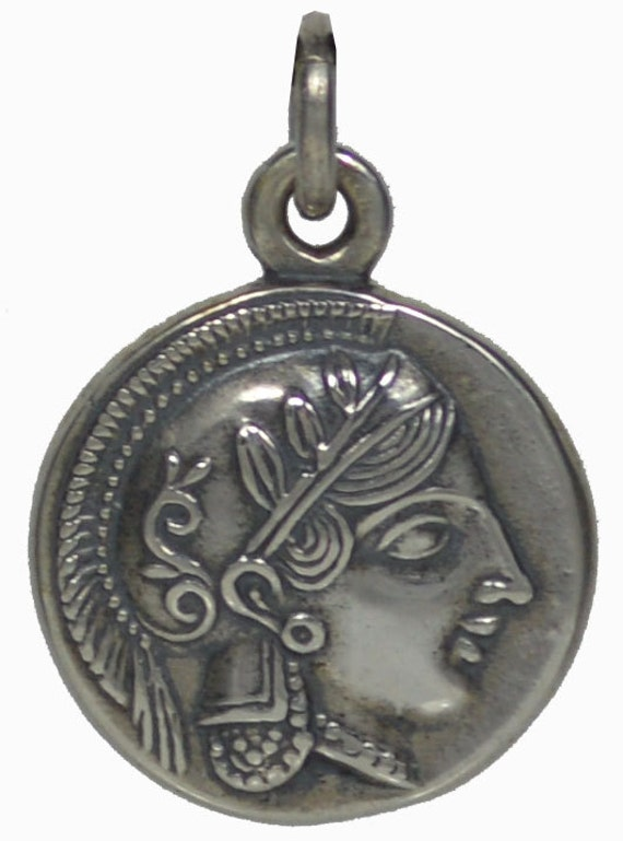 Goddess Athena Sterling SIlver Pendant - Owl Of Wisdom