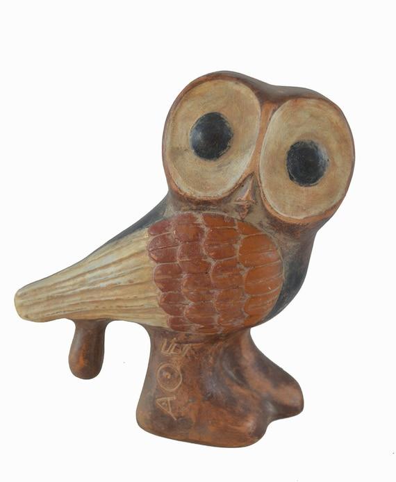 Owl sculpture ancient Greek symbol of wisdom quality artifact