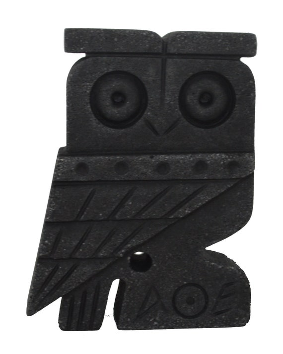 Owl of Athens flat figurine - Symbol of wisdom and Goddess Athena