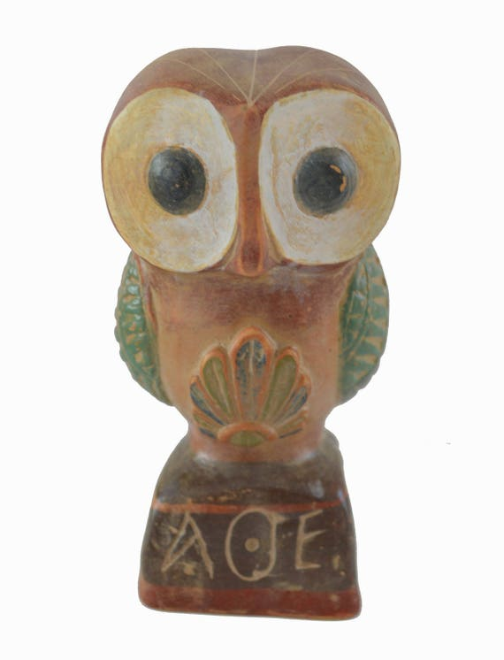 Owl sculpture ancient Greek symbol of wisdom quality artifact