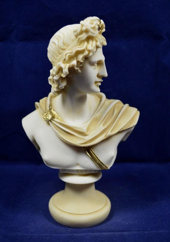 Apollo Scultura Statua Dio Greco del Sole e Poesia Great Busto