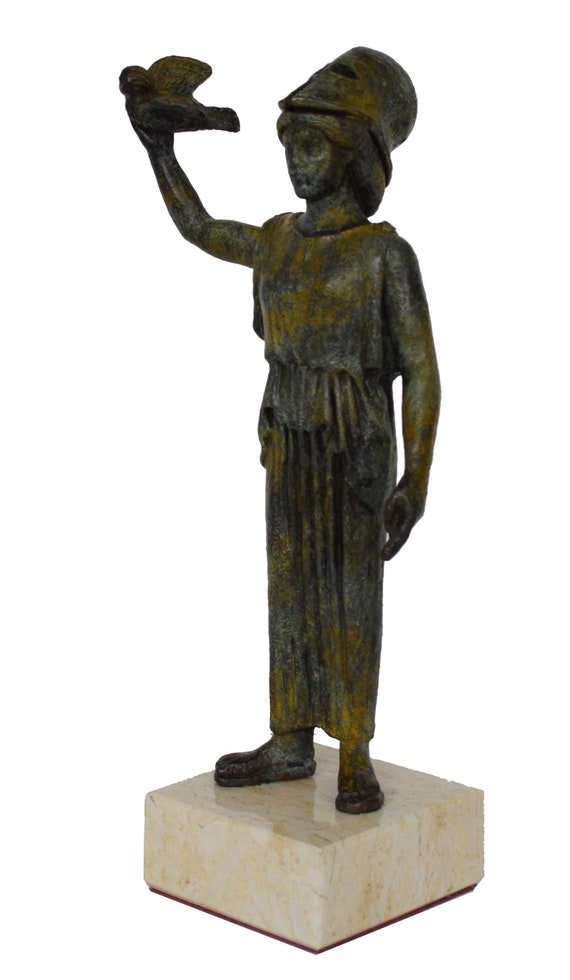 Bronze statuette of Goddess Athena flying her owl - Metropolitan Museum of Art