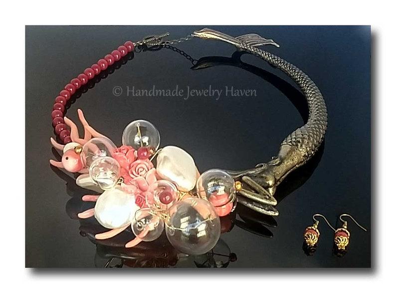Mermaid Jewelry Mermaid Necklace Nautical Jewelry Boho Chic image 0