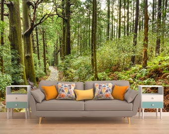 Forest wall mural Etsy