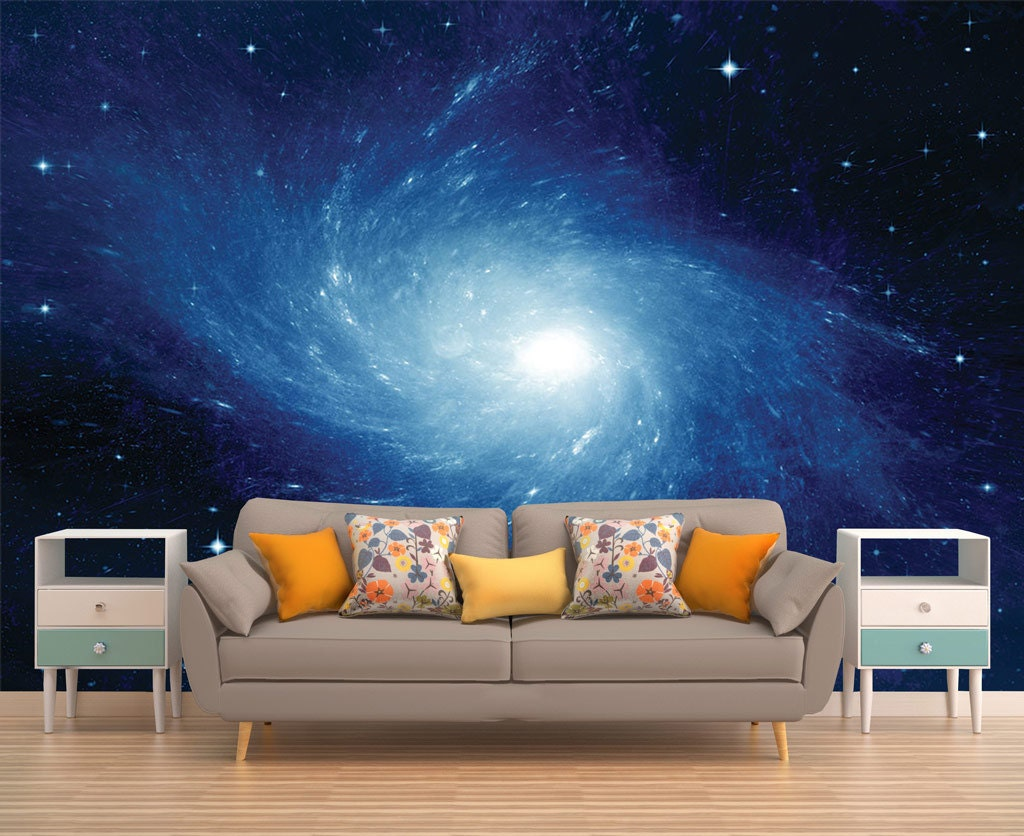 Galaxy Mural Space Wallpaper Outer Space Wall Mural Stars