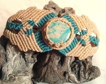 Snake-skin jasper bracelet.