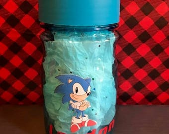 Sonic the Hedgehog Water Bottle, Personalized Water Bottle, Kids Water Bottles, Beach Water Bottles, Pop up Straws, Video Game Water Bottle