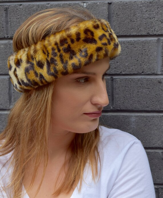 Faux fur headband Ocelot  58838dcdc68