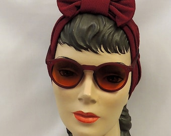 Lunettes de soleil Rouge Ombre 1930 S 1940 S Style Vintage UV400
