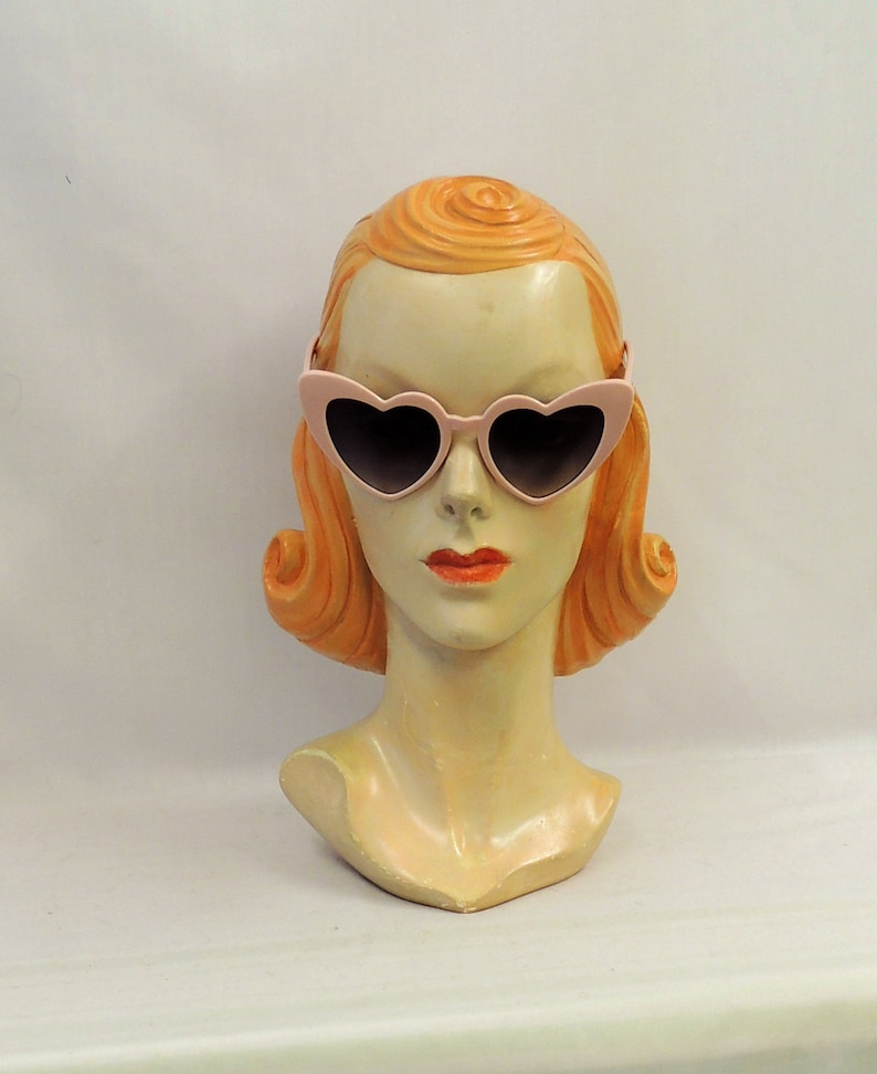 What Did Women Wear in the 1950s? 1950s Fashion Guide Pink Heart Shape Cats Eye Sunglasses Retro style UV400 $11.46 AT vintagedancer.com