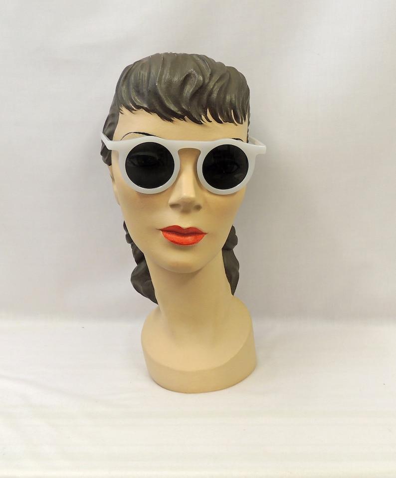 Retro Sunglasses | Vintage Glasses | New Vintage Eyeglasses Light Grey Marlene Sunglasses 1930s 1940s style UV400 $21.63 AT vintagedancer.com