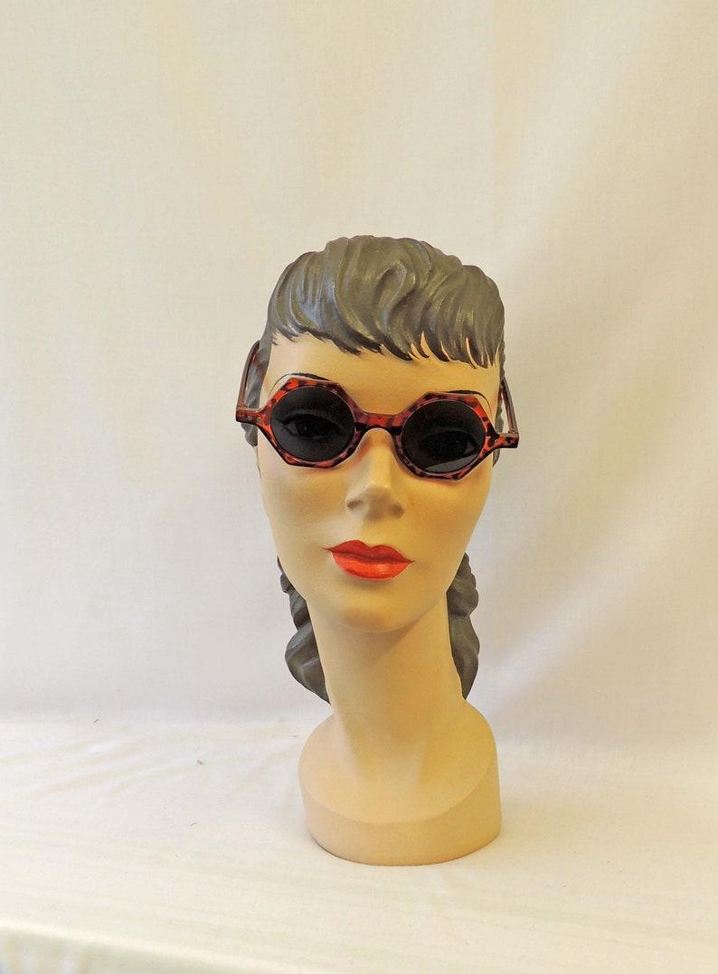 Retro Sunglasses | Vintage Glasses | New Vintage Eyeglasses Lana Faux Tortoiseshell Sunglasses 1930s 1940s style UV400 $11.54 AT vintagedancer.com