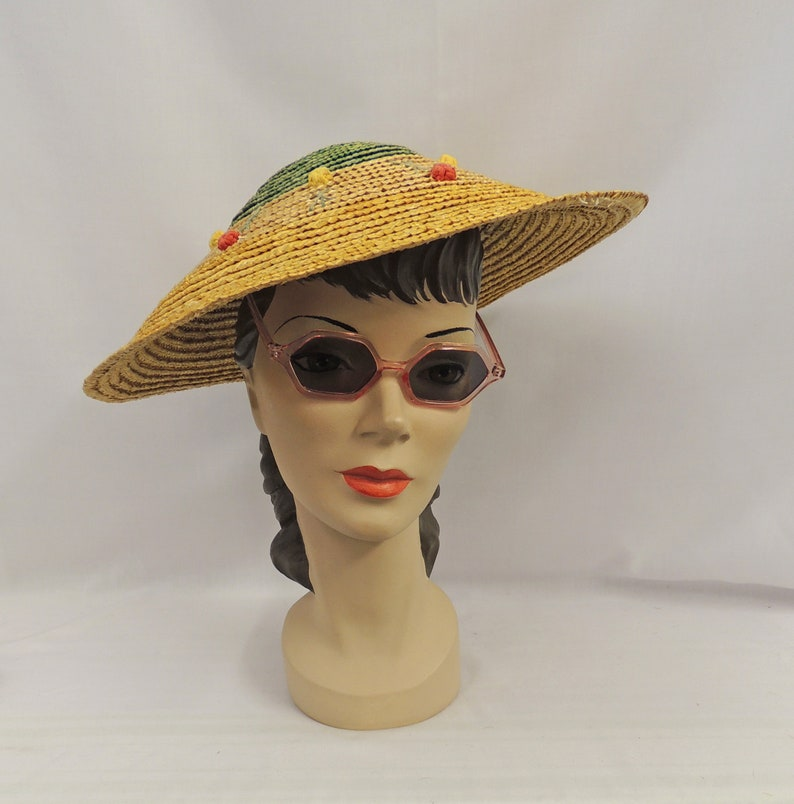 Retro Sunglasses | Vintage Glasses | New Vintage Eyeglasses Sunglasses Clear Pink 1930s 1940s style UV400 $10.82 AT vintagedancer.com