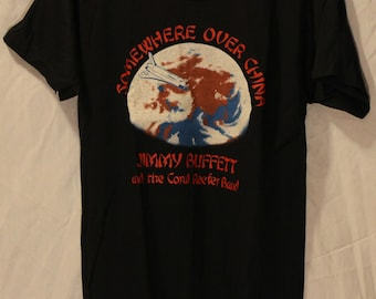 MINT Jimmy Buffett T-Shirt 1982 Somewhere Over China Concert Tour Vintage Medium New NEVER USED