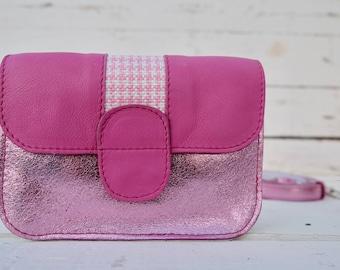Shinny, Metallic Pink, leather bag, shoulder bag, crossbody bag, summer bag