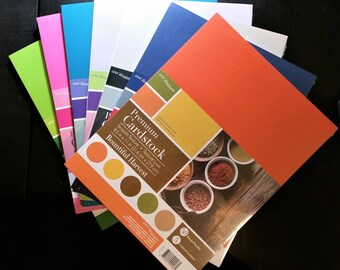 "65lb Cardstock, 8.5 x 11"" Core'dinations, multiple solid color packs 