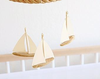 Crib Mobile    Baby mobile    Sailboat mobile    nautical    nursery decor    Owen
