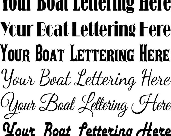 Boat Decals - Free Shipping on All Orders in the USA