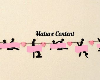 LADIES NIGHT Letter Banner Cardstock Black Glitter and stripper  Banner Wall Decor Girls Night Party Decoration