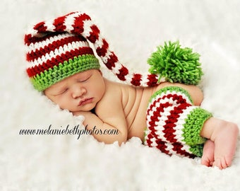 PRE-ORDER Newborn Baby Elf Hat, Holiday Hat, Stocking Hat, Made to Order