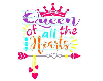 Queen of all the hearts png,pdf,svg,eps files