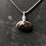 Rainbow Obsidion Crystal Pendant Necklace, Reiki Infused