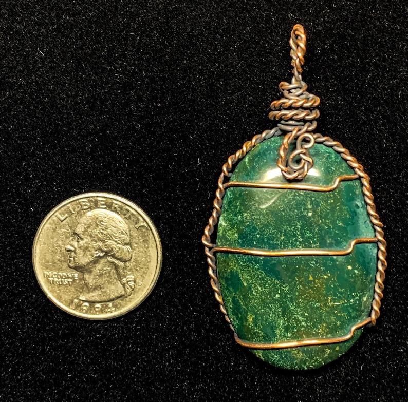 Bloodstone Crystal Pendant Necklace