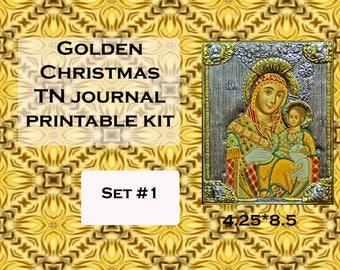 Golden Christmas TN Journal Printable Kit- link